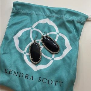 Kendra Scott Elle Black/Silver Earrings